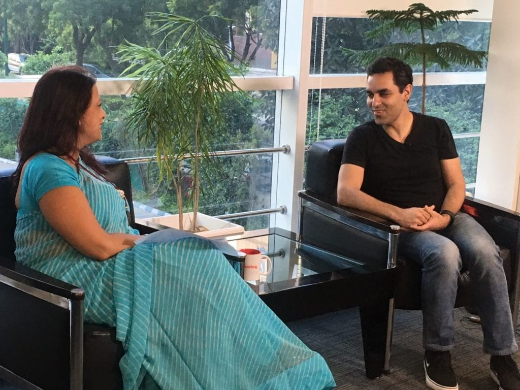 Interview with Ankur Warikoo at Nearbuy Office in Gurgaon