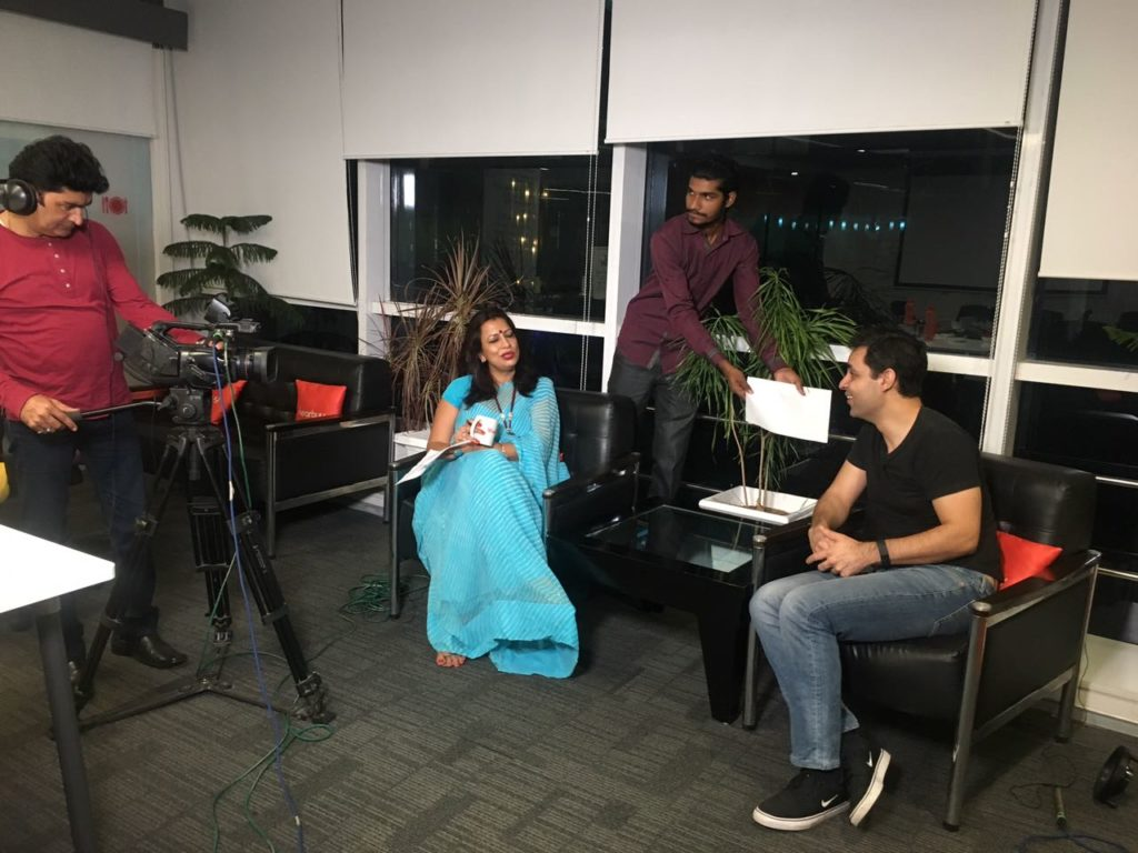 Candid Shots Through Interview With Ankur Warikoo