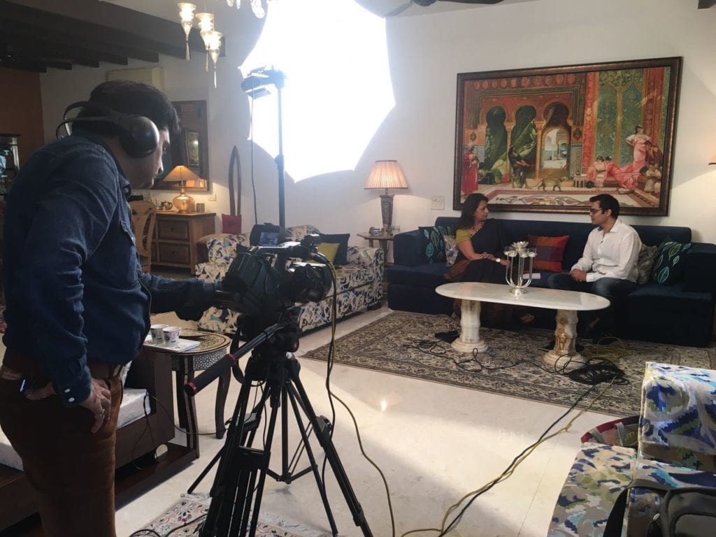 Interview with Ashish Kashyap at his house in Gurgaon